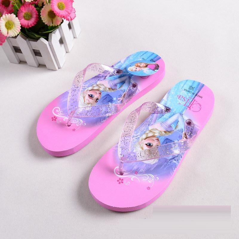 Frozen Elsa slippers rose  (mt 30 t/m 33)