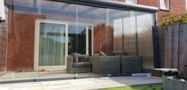 tuinkamer : antraciet grijs / gelaagd glas dak en zijwanden