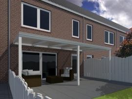 Moderne terrasoverkapping  van 3,06 x 2,5 meter