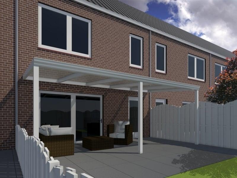 Moderne terrasoverkapping  van 7,06 x 3 meter