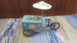 Ice Cream Tricycle With Parasol Blue