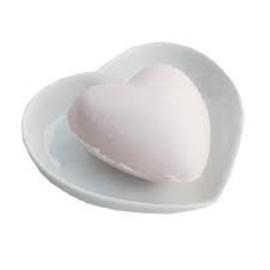 Zeepschaaltje in hartvorm