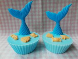 Cupcake met duikende zeemeermin