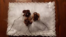 Papieren roosjes 1,5 cm