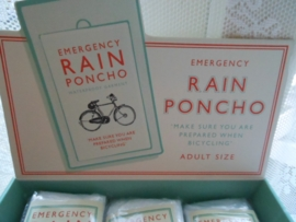Emergency bicycle rain poncho