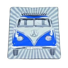 VW picnic deken blauw