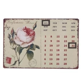 Magneetkalender roos