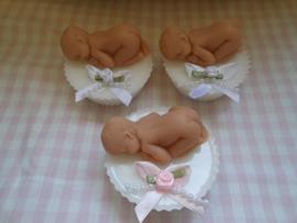 Baby op cupcake