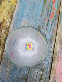 Kaarsje Lama wit in glas