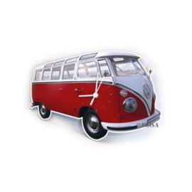 VW Wallclock Classic Red