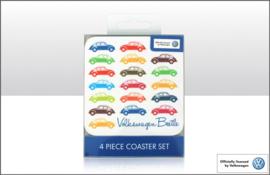VW Multi Coloured Beetles Coaster