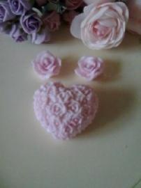 Hart met roosjes