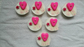Cupcake met lint