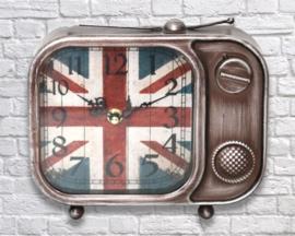 Vintage Union Jack Television Clock