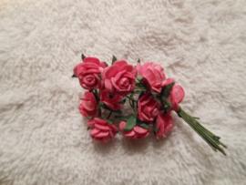Papieren roosjes 1 cm