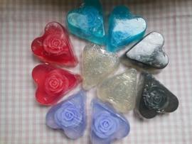 Grote harten met roos