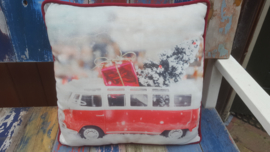 Christmas Car Cushion Pink