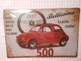 Fiat 500 rood