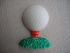 Golfbal met tee