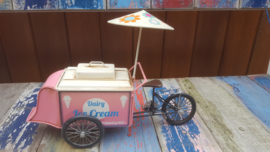 Ice Cream Tricycle With Parasol Rose