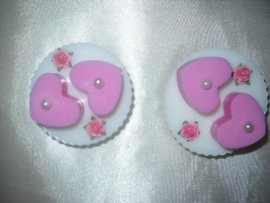 Cupcake met harten