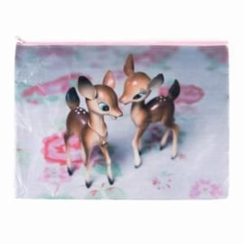 Deer on Rose A4 Pouch