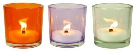 XL Glas kleurloos inclusief kaars vulling indoor