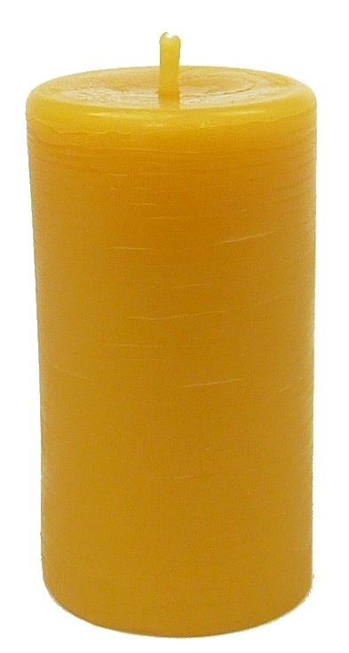 Bijenwas kaars stomp 5 geel