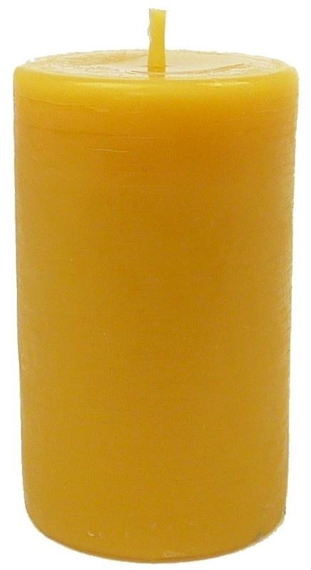 Bijenwas kaars stomp 7 geel