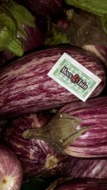 Aubergine plant, Gestreepte aubergine