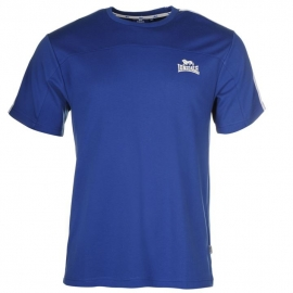 "Lonsdale Tee ""2 stripe short sleeve BLUE"""