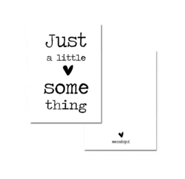Minnikaart | Just a little something/wit