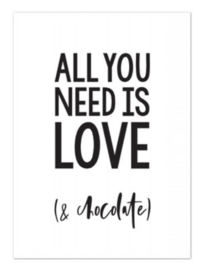 All you need is love(& chocolate)