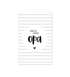 Minikaart | Voor de liefste opa