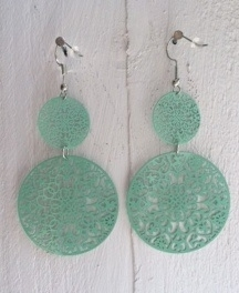 Dreamcatcher oorbellen lucite green