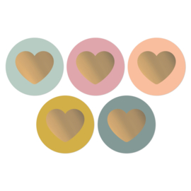 Lovely Hearts Colorful kadostickers