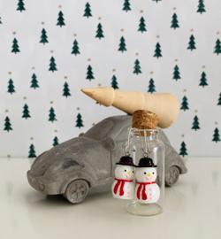 Kerst oorbellen sneeuwpop