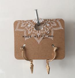 oorbellen boho hanger Gold