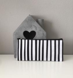 Etui-Zwart/wit strepen
