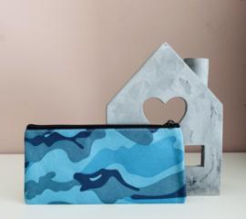 Etui | Camouflage-Blauw
