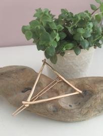 Minimalistische haarspeld driehoek