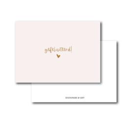 Mini Kaart | Gefeliciteerd!