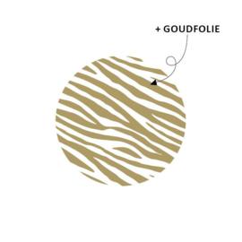 kadosticker zebra goudfolie