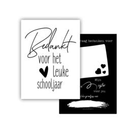 Minikaart | Bedankt voor het leuke schooljaar