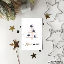 Minkikaartje | Fijne kerst
