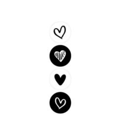 Kadosticker | Black and white hearts
