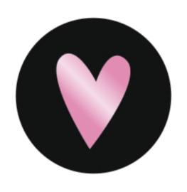Sticker metallic hart rose