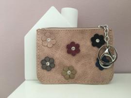 portemonnee klein met bloemetjes
