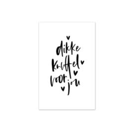 Mini kaartje | Dikke knuffel voor jou