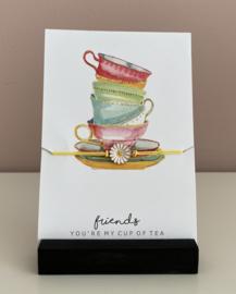 """Sieradenkaart""""Friends.......""""en armbandje met madelief"""